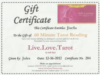Gift Certificate - 60 Minute sample